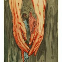 Salvador Dali, Hell 16, Woodcut, Divine Comedy