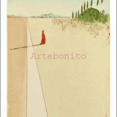 Salvador Dali, Hell 1, Woodcut, Divine Comedy