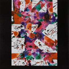 Sam Francis Poster Exhibition 1980 for Smith Anderson Gallery, Mid-century Modern, Art wall décor