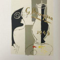 """Georges Braque Lithograph """"Une aventure methodique"""" 1963 Mourlot"""