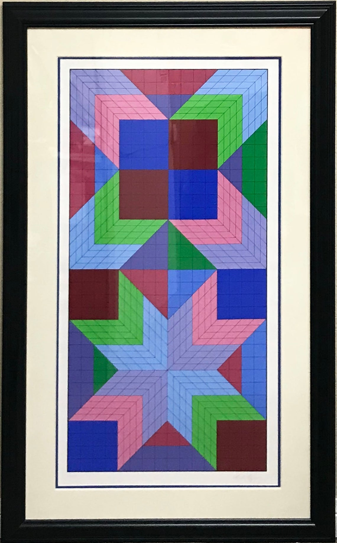 Victor Vasarely, The Door, Serigraph Pencil Signed and Numbered
