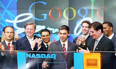 Google aparece en bolsa 2004