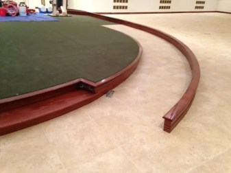 During floor renovation