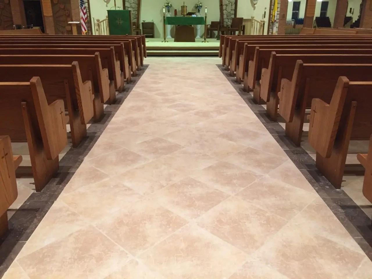Church Tile  Marble Floors  Artech Church Interiors