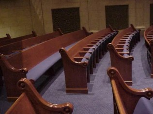 Temple Israel, Minneapolis, side view of seating MVC-013F