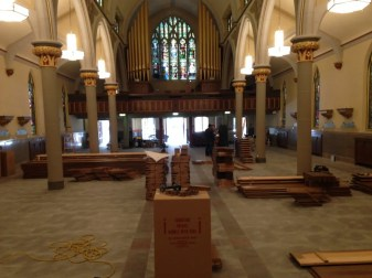 photo 2, pew installation