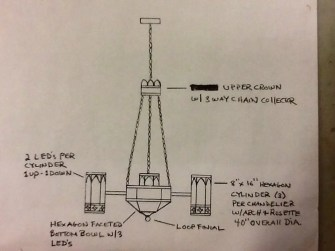 3-Arm Traditional Chandelier