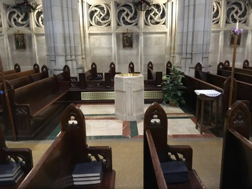 Custom pews to match existing