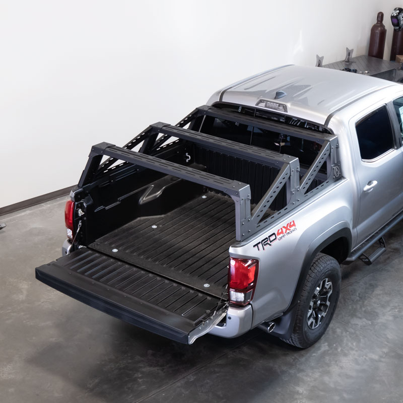 toyota tacoma 3g mid height bed rack aluminum