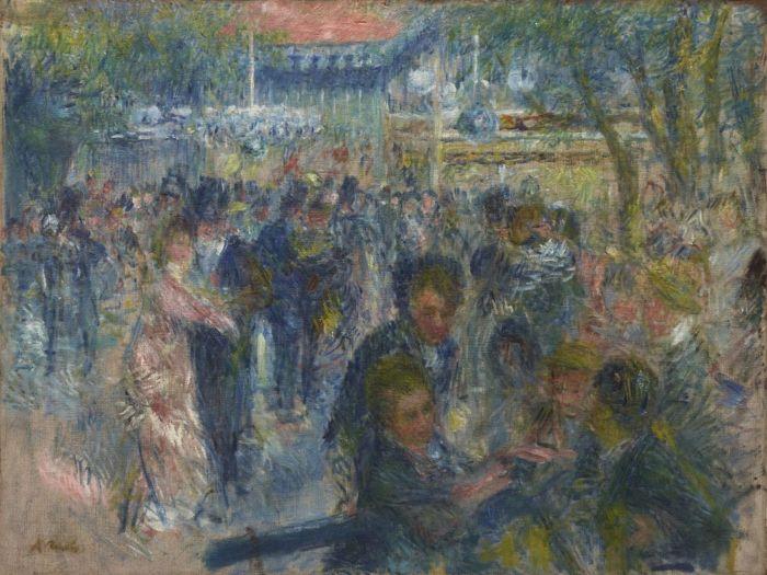 Renoir moulin de la galette boceto museo thyssen