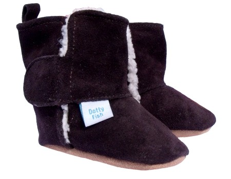 Dotty Fish Brown Suede Boots Stivaletti