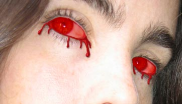 Blood Soaked Eyes  Photoshop Tutorial