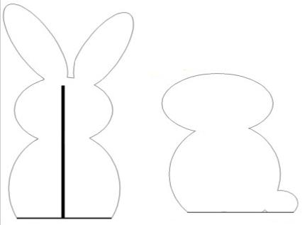 Moldes de Conejos de Pascuas