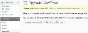 Actualizar Automático WordPress 2.7