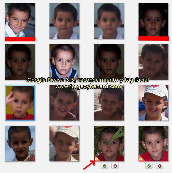 Reconocimiento y tag facial Google Picasa 3.5