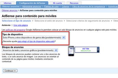Google Adsense para Móviles