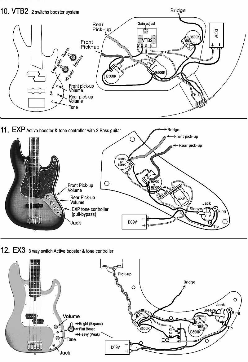 Pickup Wiring Diagram Emg Hz H4 Lp Schematic Great Design Of With Ex Pickups Schematics Bass