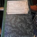 Una copertina di un registro