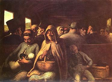 Vagón de tercera Clase de Honoré Daumier