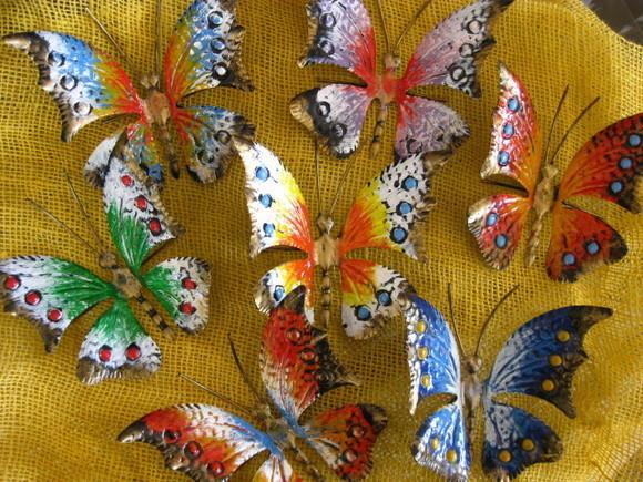Farfalle in Ferro Oggettistica colorata in ferro  Arte e