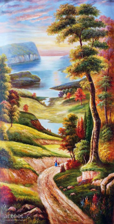 Peace In Valley Art Paintings Online