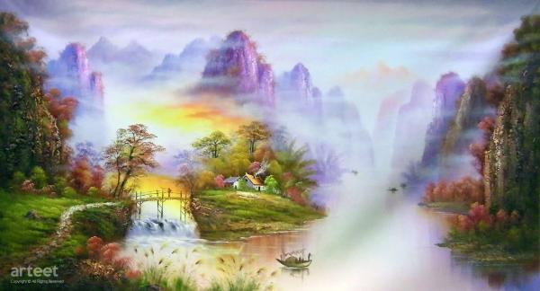 Splendor Of Four Seasons Art Paintings