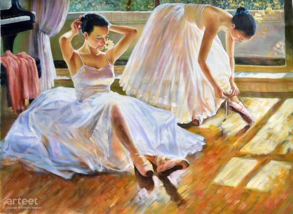 Two Ballet Dancers Art Paintings Online