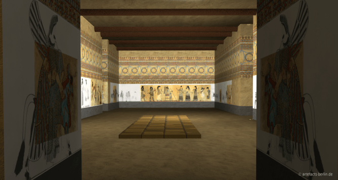 3D rendering of a palace interior