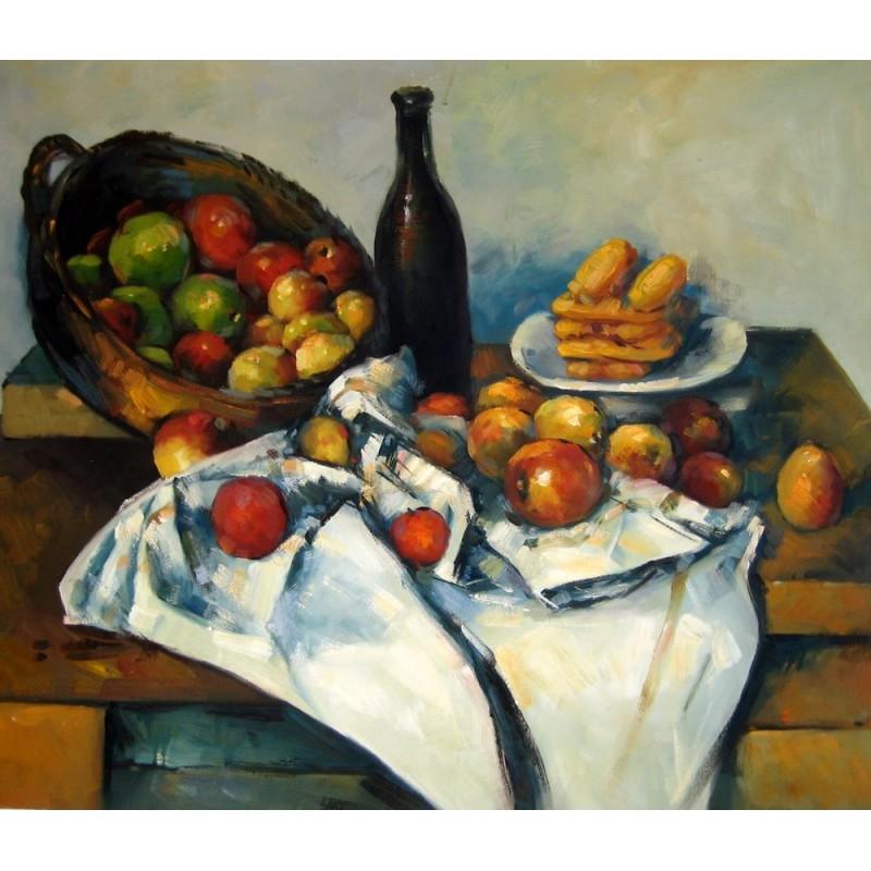 Bodegn con cesto de manzanas de Czanne  Artefamoso