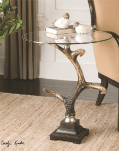 Stag-Horn,-Accent-Table-