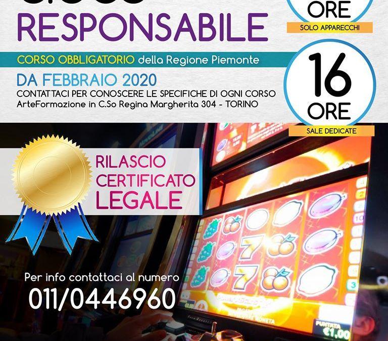 Corso Obbligatorio Gioco Responsabile Regione Piemonte
