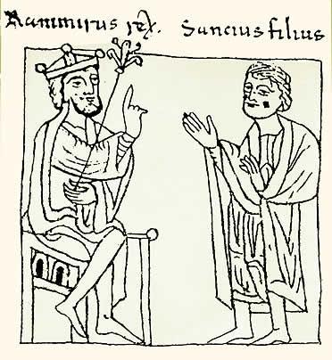 Ramiro I  y su hijo Sancho Ramírez