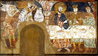 Bodas de Caná, pinturas originales de San Baudelio de Berlanga, actualmente en el  Indianapolis Museum of Art