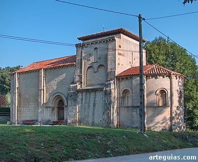 Iglesia de Iglesia de Santa María de Siones, desde el sureste