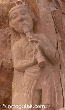 Músico Medieval. Catedral de Tudela