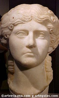 Hermoso retrato de dama romana
