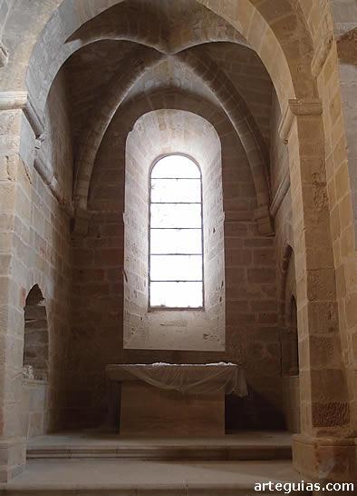Ábside lateral de la iglesia del Monasterio de Rueda