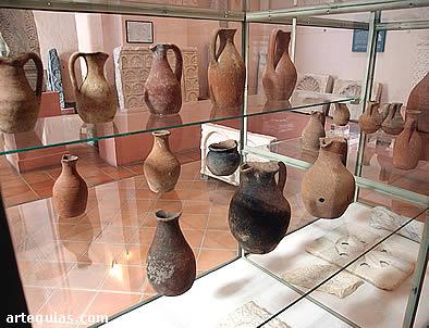 Cerámica visigoda representada por numerosas vasijas