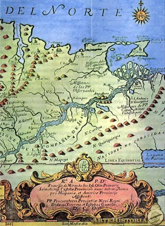Mapa Del Nuevo Reino De Granada De El Orinoco Ilustrado