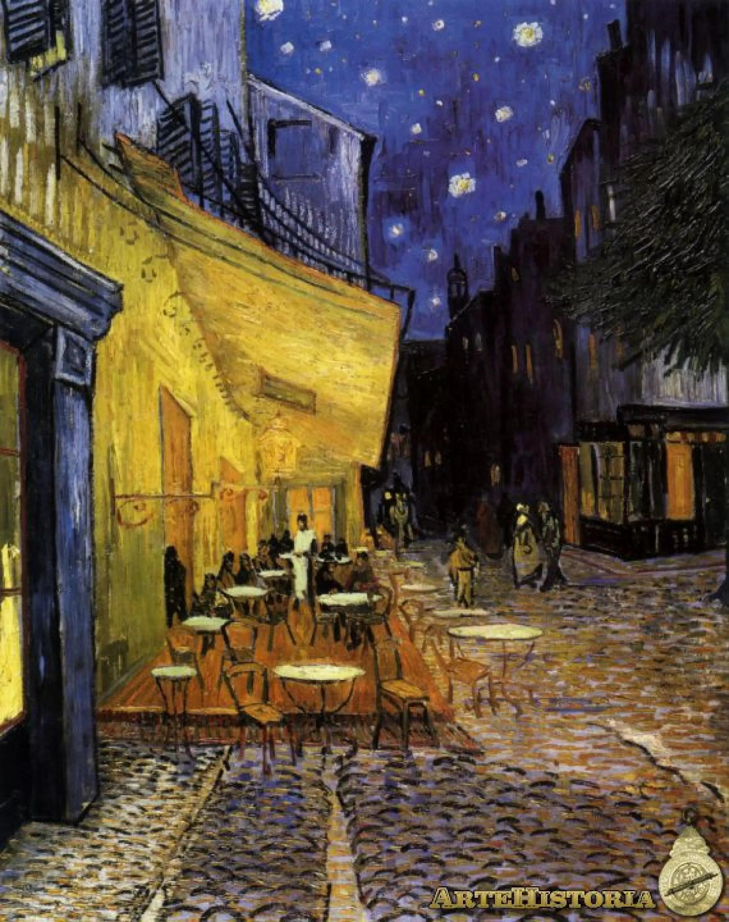 Terraza de caf por la noche  artehistoriacom