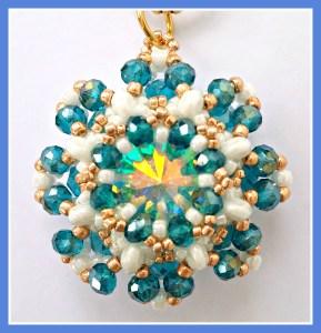 Art. 72 AZZURRO - OCEAN -tecnica Tessitura di perline -@ Milky Beads bijoux - Euro 31.00 (7) OK SI FB