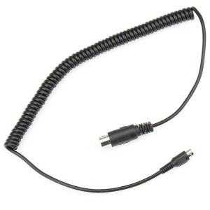 4 5 6 core straight male curly cord cable 6 FT Mini din