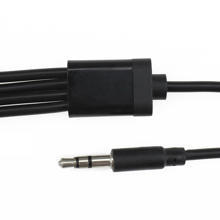 5mm Stereo Right Angle Plug To Bare Wire 703536