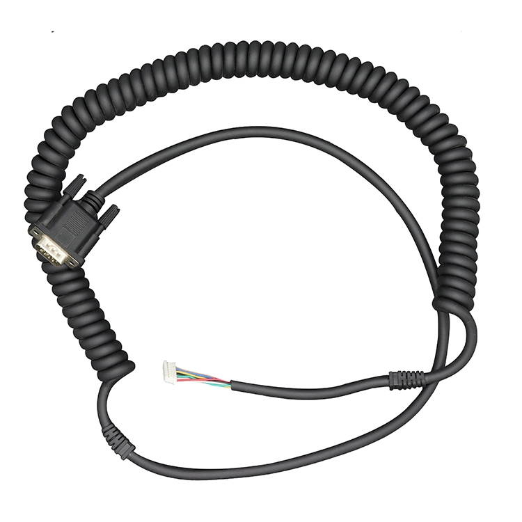 China manufacturer supply m8 female 4 core pvc pur coiled