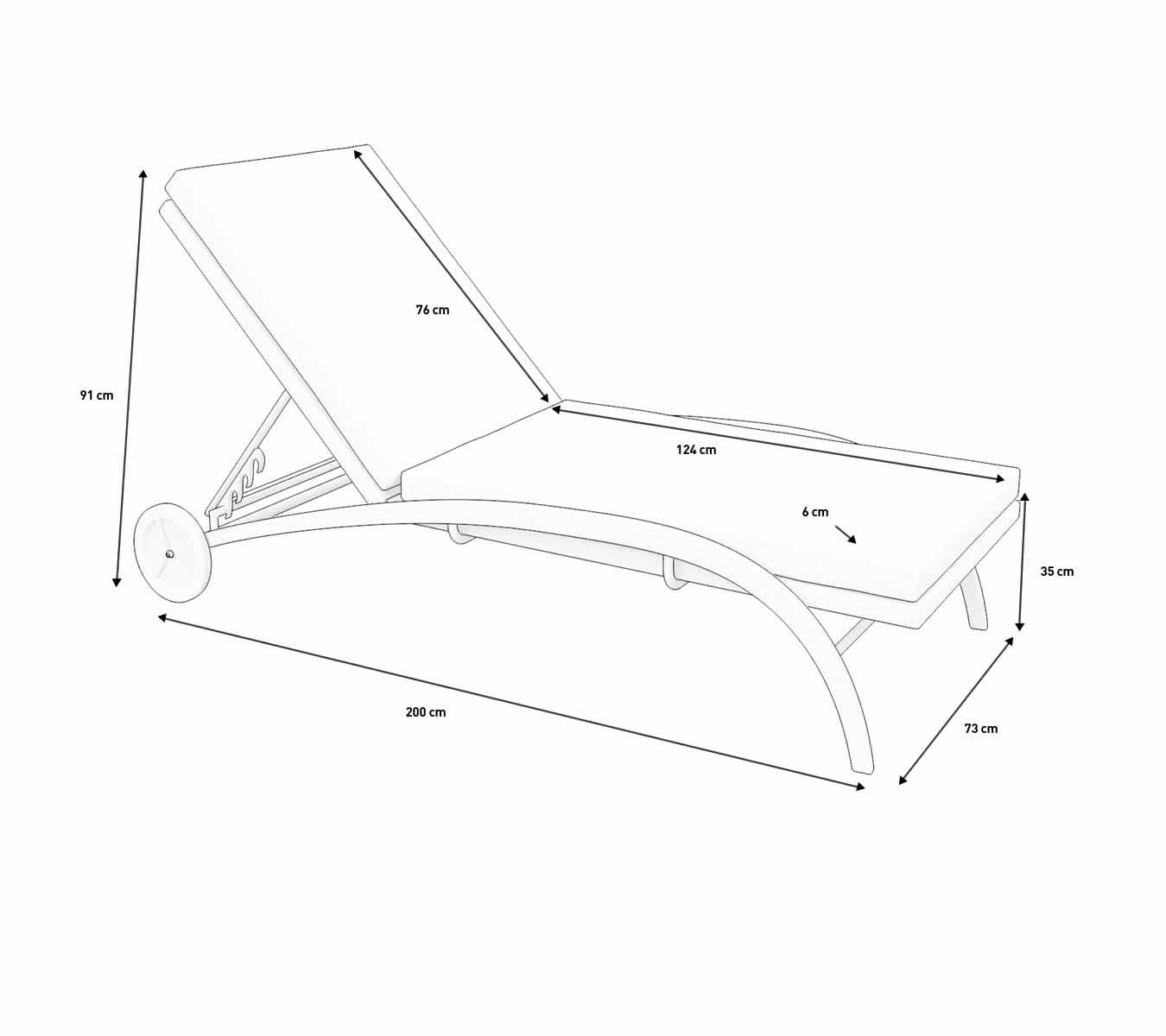 Buy your rattan sun lounger LINEA online ARTELIA Design UK