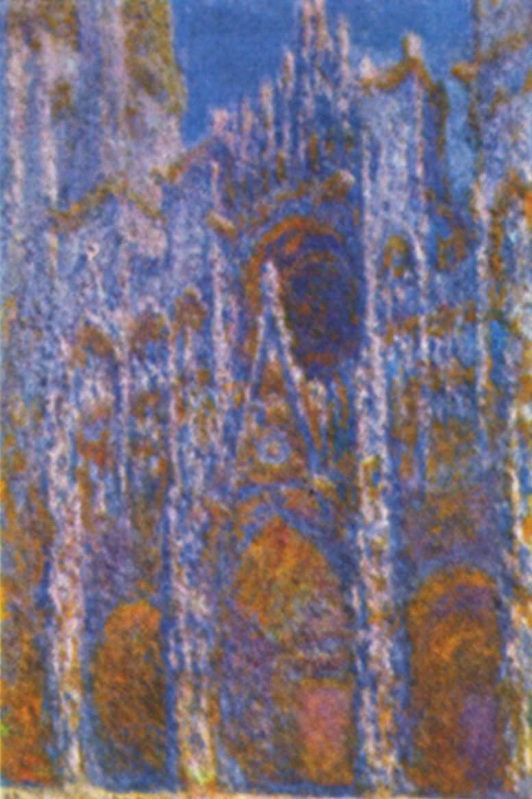 Claude Monet  Catedral de Rouen Portal con el sol de la maana armona en azl  Artelistacom