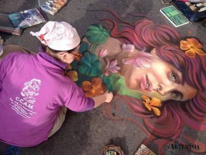 """Spring"" Chalk on street"