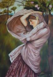 """""""Bora"""" John William Waterhouse . Acrylic on canvas."""