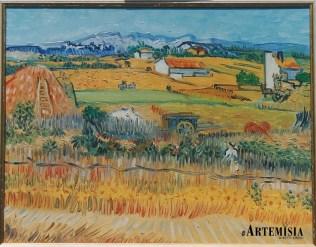 """""""Plain of la Crau"""" Van Gogh. Oil on canvas."""