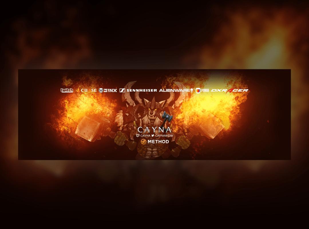 Twitter Banner Design - Cayna